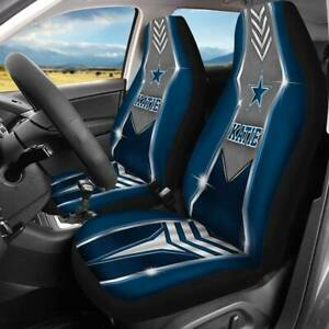 Dallas Cowboys Car Front Seat Covers Universer Fit 2 Pcs For Most Car Truck Suvs
