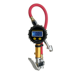 Digital Lcd Air Tire Tyre Inflator High Accurate Pressure Gauge With Dual Chuck