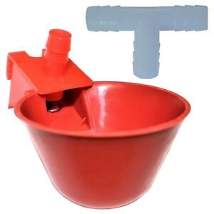 6 Rite Farm Products Auto Waterer Drinker Cup Barbed Fitting Chicken Poultry