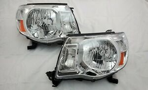 2005 2011 Toyota Tacoma Direct Replacement Headlight Set Clear Lens