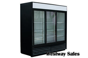 True Gdm 69 Sliding 3 door Refrigerator Merchandiser Cooler Free Shipping