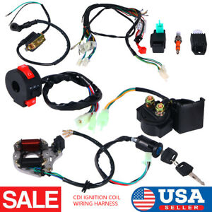 CDI Wire Wiring Harness Assembly For ATV Electric Start QUAD 50/70/90/110/125cc
