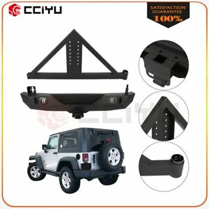 For 2007 2018 Jeep Wrangler Jk Rear Bumper Tire Carrier W Winch Triangular