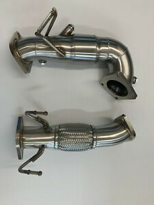 2019 2020 Veloster N Downpipe With Flex Section Hi Flow Cat Catted