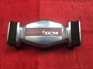 Vintage 1980 s B M Dogbone Sidedraft Aluminum Polished Low Profile Air Cleaner