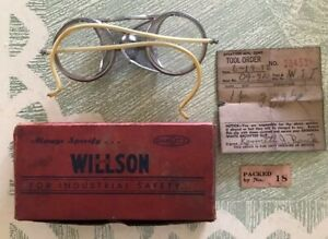 Vintage Wilson Wwi Industrial Glasses Googles Steampunk W box