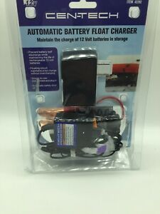 Cen Tech 12 Volt Automatic Battery Float Charger Maintains Charge Item 42292