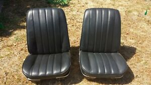 1966 Oem Chevrolet Chevelle Bucket Seats A Body Gm 1967 With Tracks Very Nice