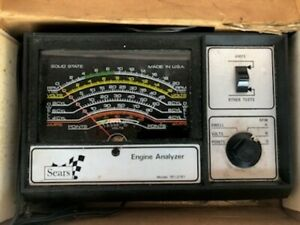 Sears Engine Analyzer 28 2161 For 12 Volt Ignition Systems Manual Box