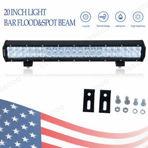 20 Inch 480w Led Work Light Bar Off Road Driving Lamp 12v Atv Suv Boat Bright