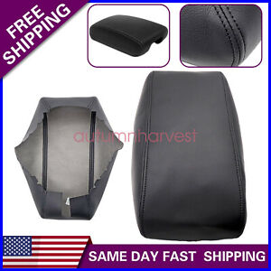 Fit 2011 2019 Jeep Grand Cherokee Leather Center Console Lid Armrest Cover Black