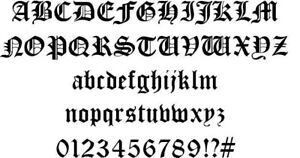 Old English Font Dxf Of Plasma Laser Cut Cnc Vector Dxf File