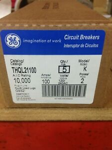 Ge Thql21100 100amp 120 240v 2pole Box 5 Breakers New In Factory Box