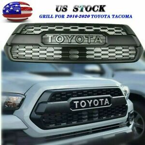 New Black Grille Front Bumper For 2016 2020 Tacoma Hood Grill With Letters