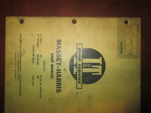 Vintage 1955 Massey Harris I t Tractor Shop Manual Mh 5a 21 Colt 23 33 44 55