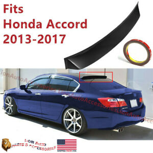 Fits Honda Accord 2013 2017 9th Gen Rear Window Roof Vent Visor Spoiler Wing