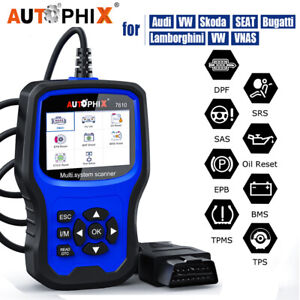 Auto Obd2 Scanner Abs Airbag Bms Oil Dpf Tpms Reset Car Diagnostic For Vw Audi