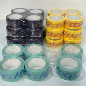 Lot Of 30 Rolls Official Multi Color Ebay Branded Packaging Tape 2 X 75