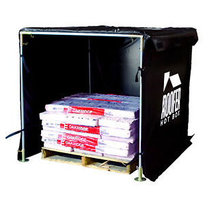 Roofers Hot Box Heats Shingles In Cold Weather Heat Equipment Adhesive Tools