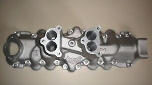 Thickstun Flathead Ford Mercury V8 Intake Manifold Hot Rod Dual Carburetor