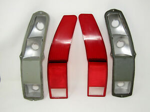 1972 Ford Ranchero Tail Light Tailight Lenses And Reflector Plates