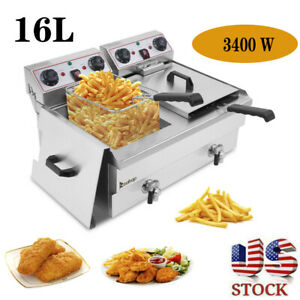 16l Electric Deep Fat Fryer Non stick Stainlesssteel Healthy Food Frying Machine