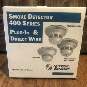 System Sensor 400 Series Smoke Detector Plug in And Direct Wires New 2451