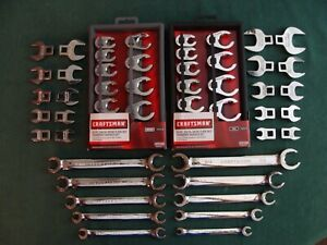 Craftsman Crowfoot Wrench Set 50pc Regular Crowfoot And Flare Nut Sae Mm