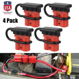 4x Quick Battery Connector Winch Trailer Connect Disconnect Wire Harness Plug