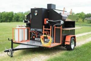 Pristine Custom made Rotisserie Barbecue Smoker Tailgating Trailer For Sale In V