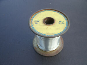 Pure Tin 050 Dia Solid Core Solder Spool Weight Around 2 14 Lbs Old Stock