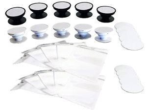 10 5 White 5 Black Pop Out Phone Grip Sublimation Blanks Socket Style Holders