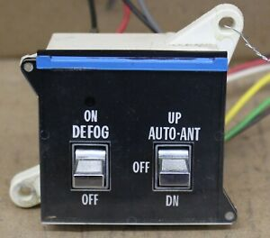 1978 1979 Cadillac Coupe Deville Defog Switch Power Antenna Switch