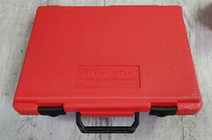 New Snap On Pb16b Blow Mold Red Plastic Storage Case 3 8 Dr Ratchet Swivel