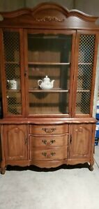 Vintage China Cabinet Hutch W French Regeny Dome New Price