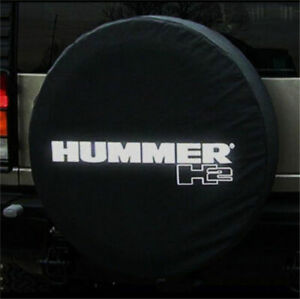 18inch Spare Tire Cover For Hummer H2 Silver Logo Dust Protector Covers 34 35