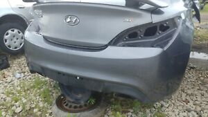 Rear Bumper Coupe W out Park Assist Fits 09 16 Genesis Lower Lip Pinched