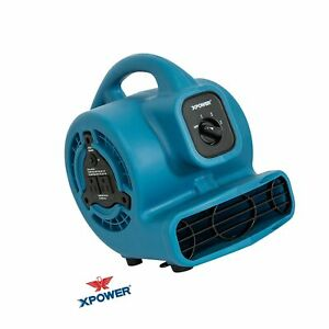 Xpower P 80a Mini Mighty Air Mover Utility Fan With Built in Power Outlets