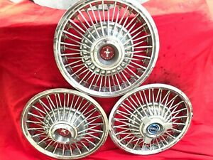 67 68 Ford Wire Spoke Hub Caps 14 Set Of 4 Wheel Covers 1967 1968 Mustang
