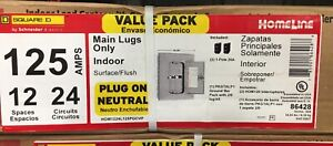 New Square d 125 amp 12 space 24 circuit Indoor Home Main breaker Load Panel Box