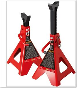 T46002a Torin Steel Jack Stands Double Locking 6 Ton 12 000 Lb Capacity 1 Pair