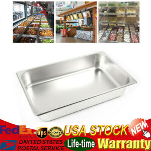 6pc Full Size 2 4 Deep 8 5 13l Stainless Steam Table Pans For Hotel Buffet