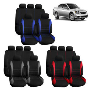 5 seats Universal Full Set Car Seat Cover Front Rear Protector Car Accessories