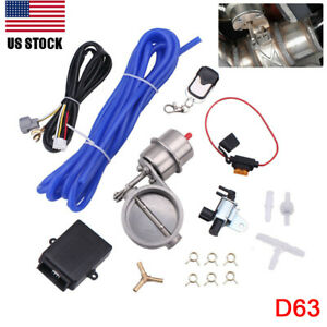 Usa 2 5 63mm Vaccum Control Exhaust Valve cutout Set With Vacuum Pump wireles