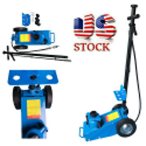 22 Ton Heavy Duty Air Hydraulic Floor Jack Wheels Lift Truck Bus Shop Tool Us
