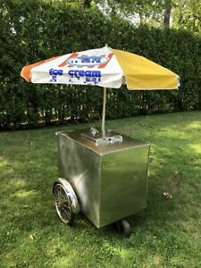 Fully Functional 2000 Ice Cream Push Cart Street Food Cart For Sale In New Jer