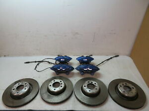 16 Bmw M235i F22 1126 Brake Caliper Rotor Set Blue Brembo M Performance