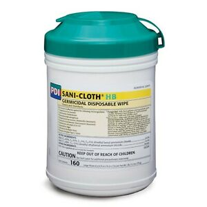 Pdi Sani cloth Hb Germicidal Disposable Large Hospital Disinfecting Wipes