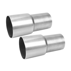 2pcs 3 Id To 2 5 Od Exhaust Pipe Component Adapter Connector Reducer