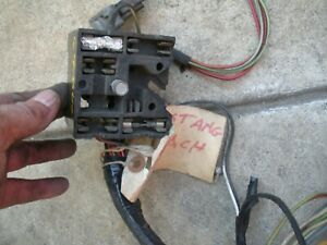 1969 Ford Mustang Under Dash Non Ac Wiring Harness With Tac